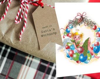 Postcard Advent Wreath