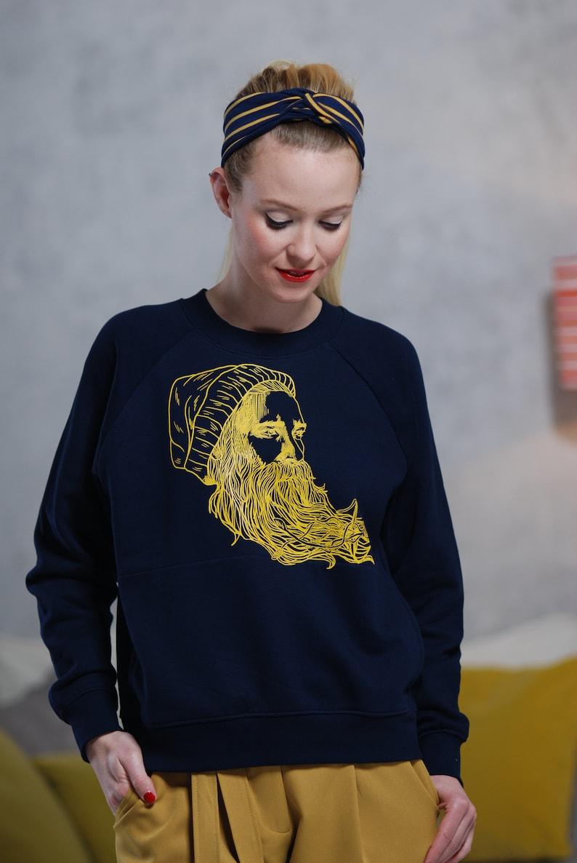 Ladies Sweater navy HAUKE