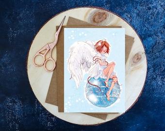 Postcard Angel Ball