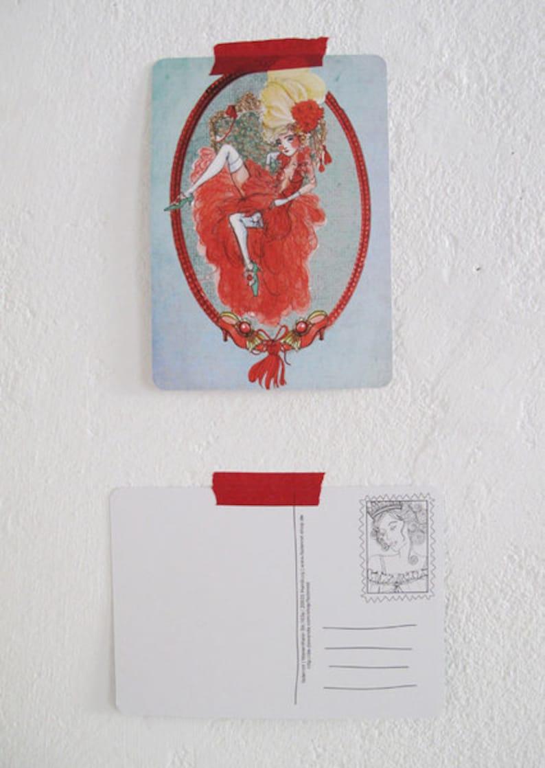 The Queen Postcard La reine