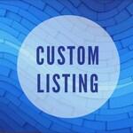 Custom listing for C&J