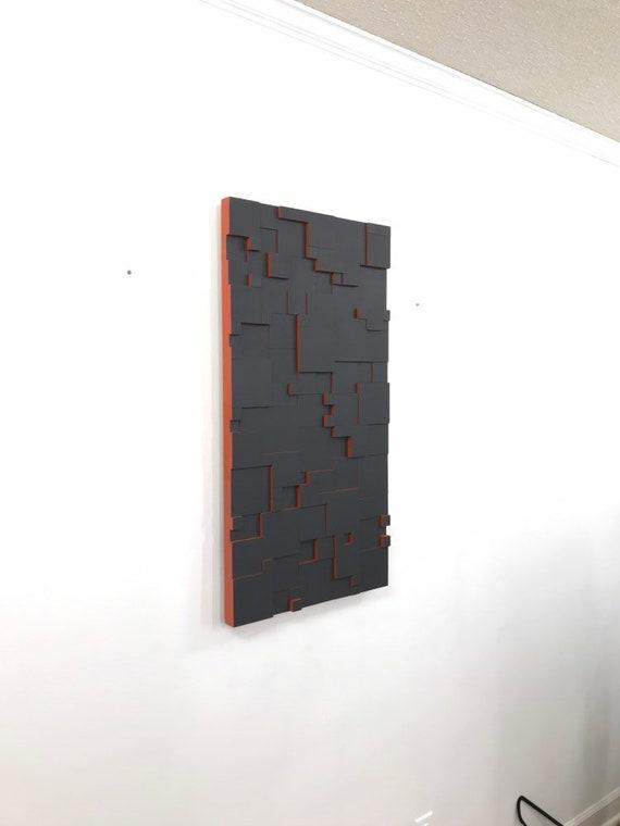 """wood wall art """"LOCUTUS RETURNS"""" 35x18 wooden wall art, wall art, modern art, stainsandgrains, cool art, Jeremy Gould, wood wall hanging"""