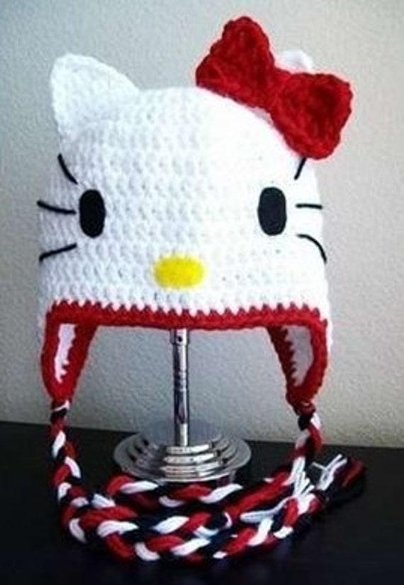 Hello Kitty Crochet Hat  70f9e1e6b1a