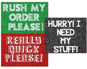 Upgrade - Rush Please!
