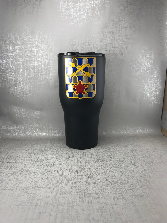 Army Ranger Tumbler/Black Powder Coated RTIC/2-16/2nd Battalion 16th  Infantry cup/Ranger Tumbler/Army Ranger Water Bottle/Ranger Coffee Cup
