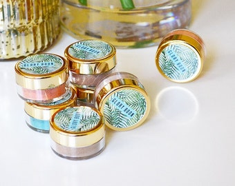 Mineral eyeshadows, passport to paradise collection, makeup, cruelty free, blush