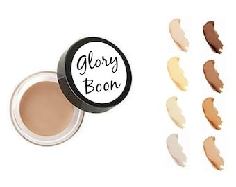 Organic long wear concealer, natural concealer, natural mineral makeup, talc free, bath and beauty, glory boon