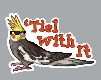 Cockatiel Bird Decal Window Bumper Sticker Car Decor Pet Parrot Tiel Love Fid