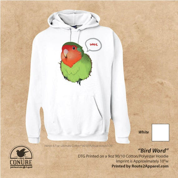 Bird Word Lovebird Unisex Hoodie Tee Peachfaced Parrot  7c18c3c59