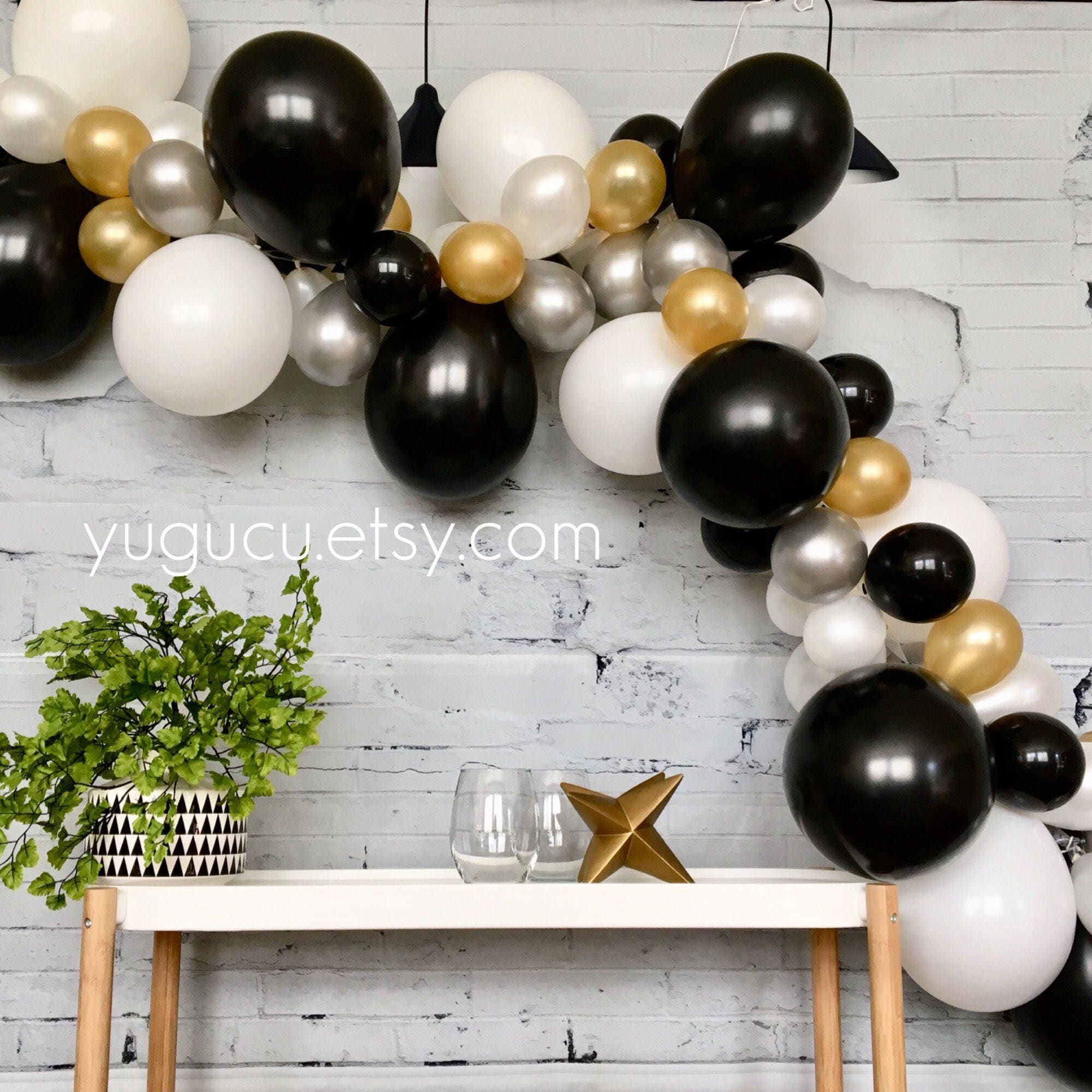 Balloon Garland Kit DIY Balloon Garland Black Gold