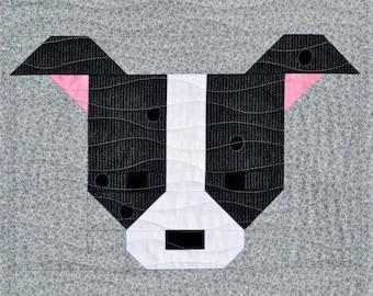 Dog Quilt BLOCK Pattern, PDF, Instant Download, modern patchwork, pet, animal, cute, puppy