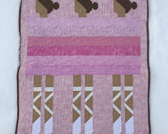 Ballet Dancers Quilt for sale Ready to ship blanket bedding patchwork girl nursery gift baby shower dance fun