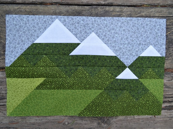 mountain range quilt block pattern pdf instant download etsy