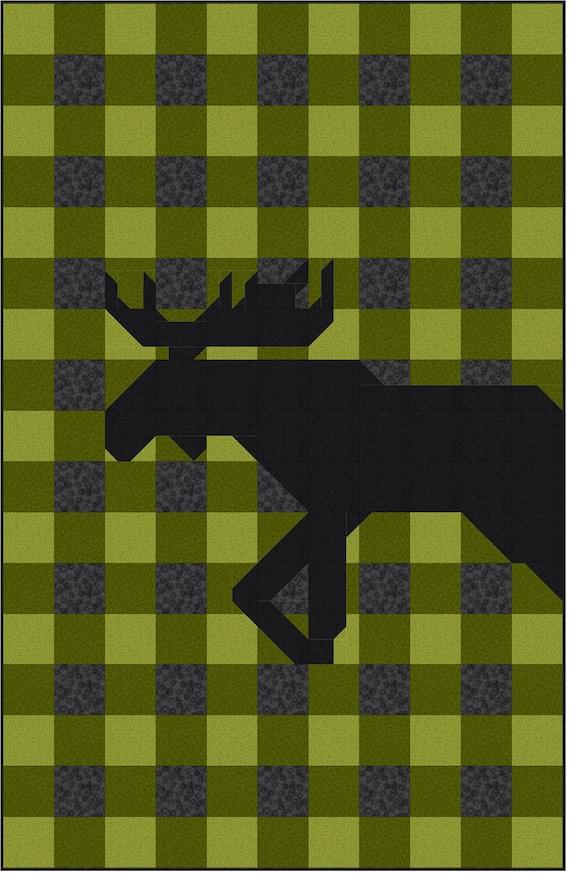 Buffalo Plaid Moose Quilt Pattern Pdf Instant Download