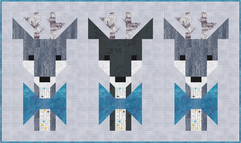 Oh DEER Quilt Pattern PDF Instant Download modern image 1