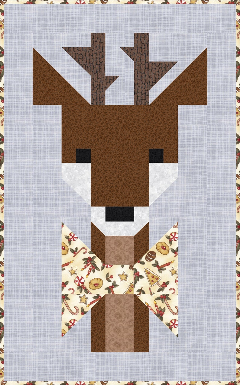 Oh DEER Quilt Pattern PDF Instant Download modern image 3