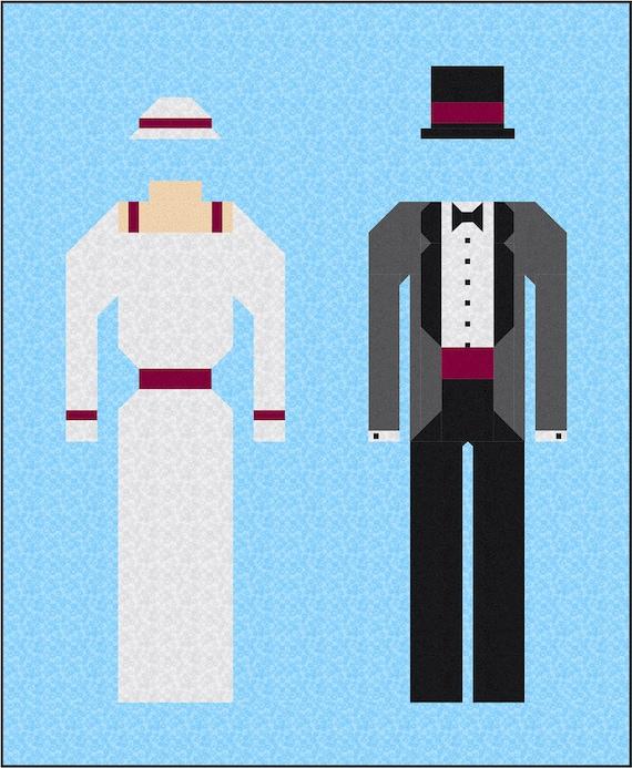 Vintage Wedding Quilt Pattern Pdf Instant Download Modern Etsy