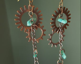 Cog/gear earrings