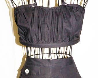 1940's Sun Suit Top Shorts Sz 6 Vintage Retro Pin Up