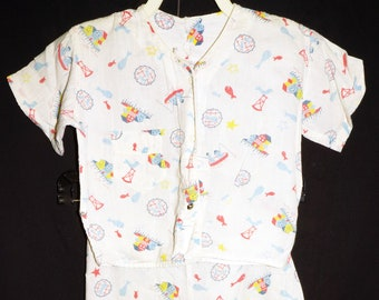 2a3f714fd0 1950s 2pr Boys Cotton Pajamas Sz 10 Vintage Kids