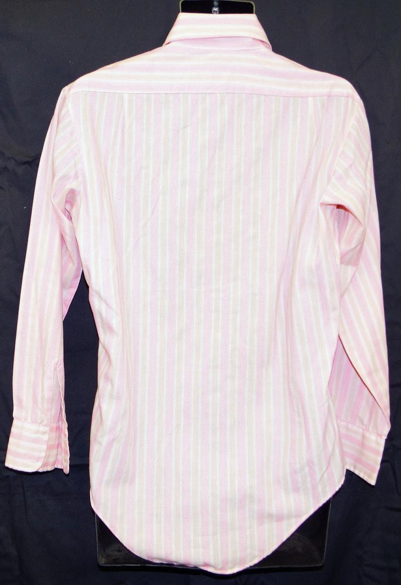 1960s LS Mens Dress Shirt Sz M Vintage