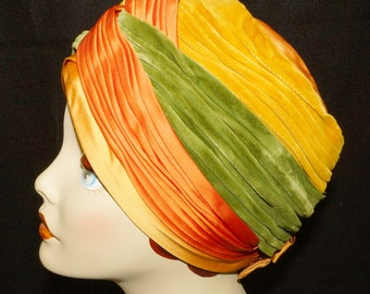 1950s Womens Turban Hat Vintage