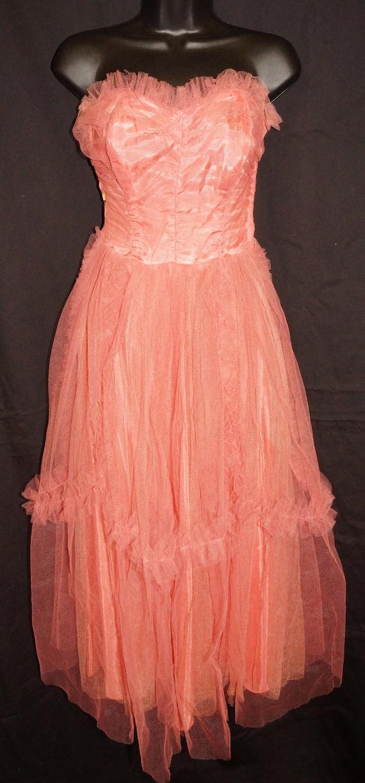 1950s Tulle Ballerina Ball Gown Sz XS Vintage