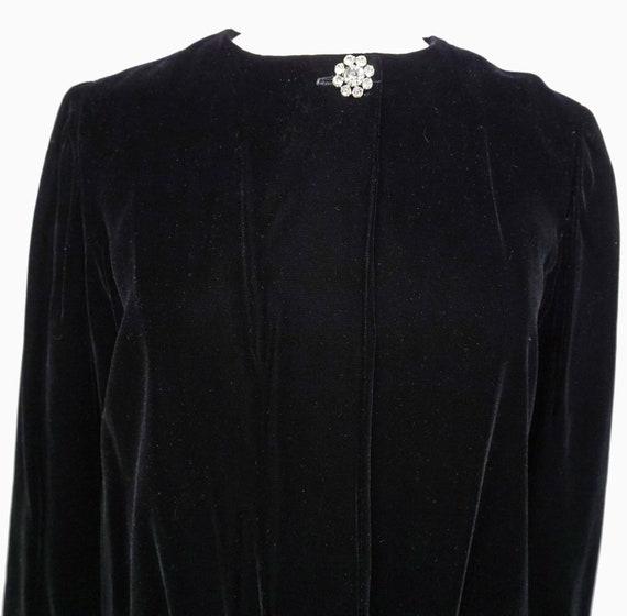 1950s Velvet Opera Coat Sz S Vintage