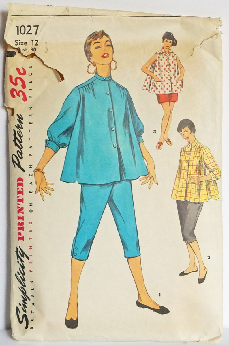bbe2dc6292 1954 Simplicity 1027 Womens Maternity Suite Vintage Sewing