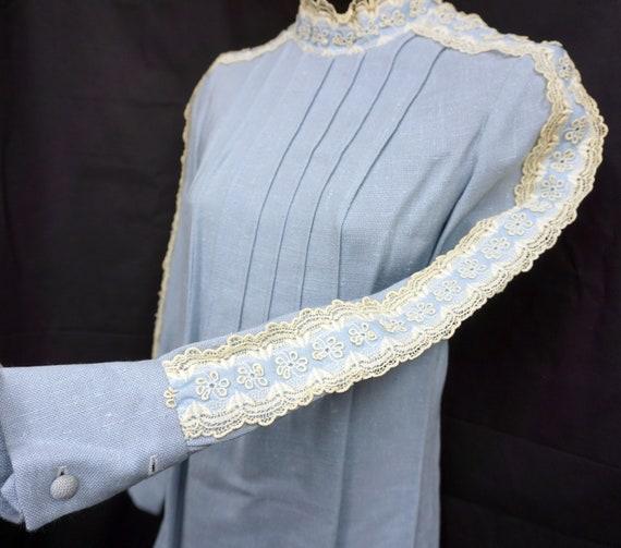 1960s Cotton Mini Dress Sz XS Vintage