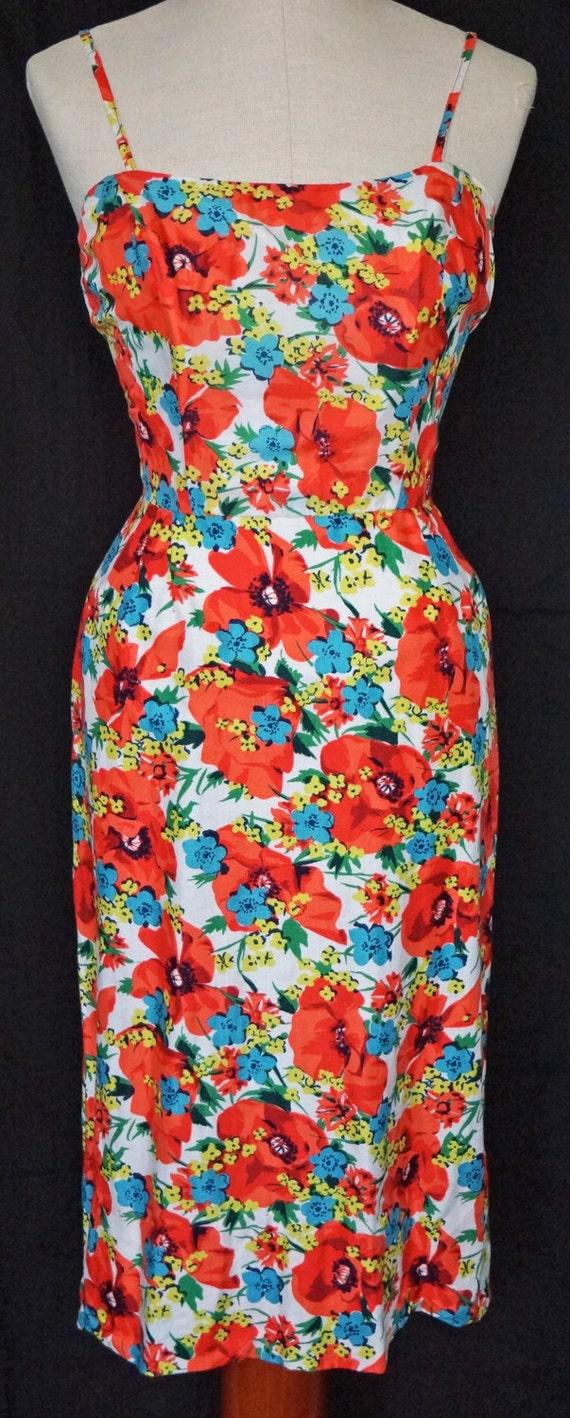 1950s Pat Premo Wiggle Dress Sz 4 Designer Vintage