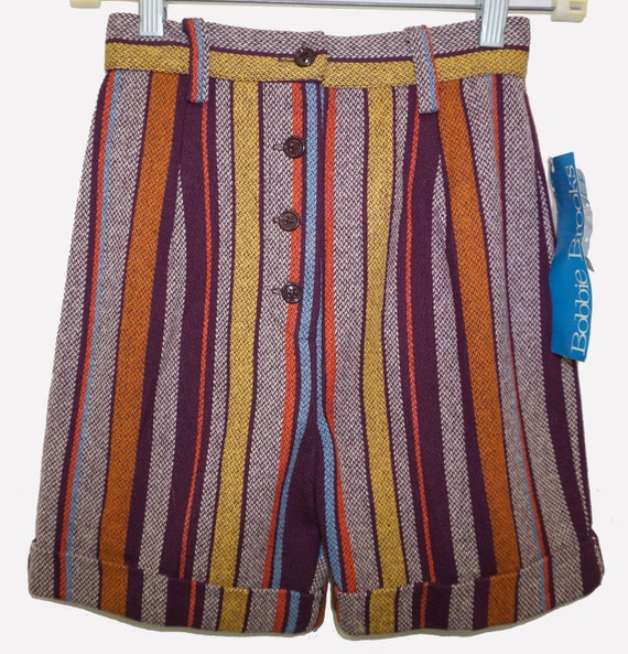 1960s Wool Shorts Sz XS Vintage Hot Pants