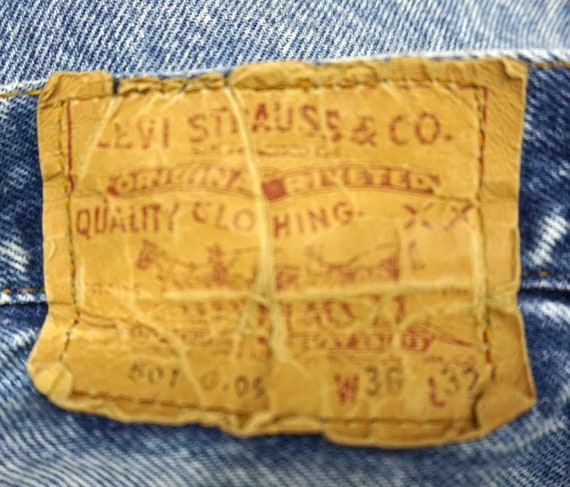 Made In USA Levis 501 36x31.75 Vintage - image 6