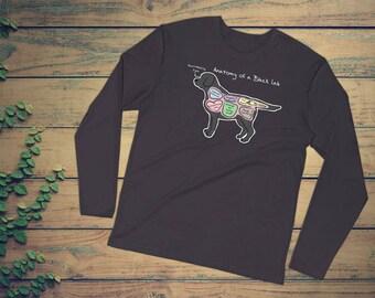 9e7176a9 Anatomy of a Black Lab - Funny Labrador Retriever Tee - Long Sleeve Fitted  Crew