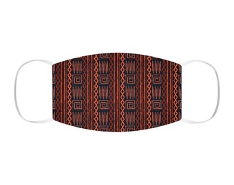 African Print Snug-Fit Polyester Face Mask