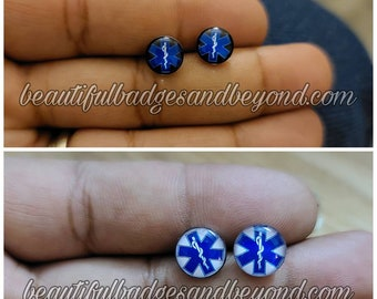 Paramedic EMT EMS Star of Life Earrings