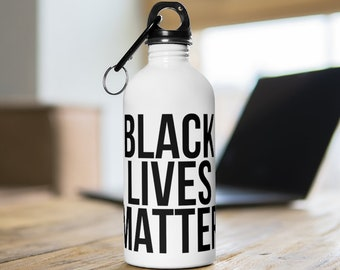 Black Lives Matter Black African American Stainless Steel Water Bottle