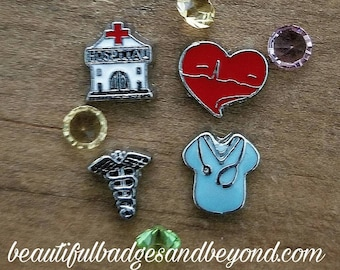 Nurse Floating Charm Set of 4