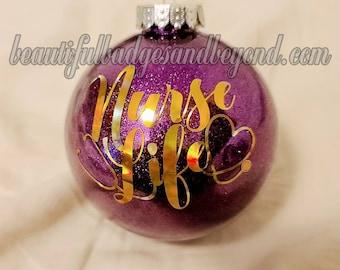 Nurse Caduceus Paramedic EMT EMS Star of Life Christmas Ornament