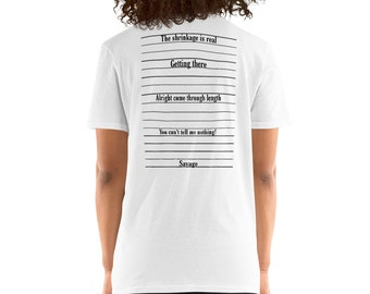 Natural Hair Locs Dreadlocks Dreads Growth Chart Short-Sleeve Unisex T-Shirt