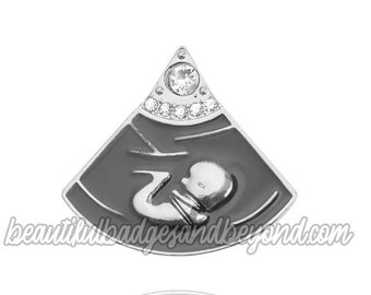 Sonography, baby in womb ultrasound pin broach