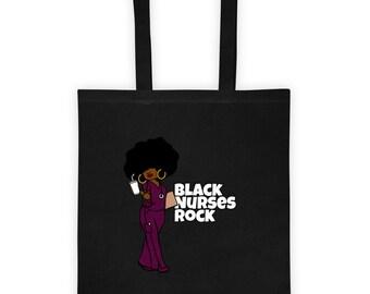 Black African American Nurse Tote bag