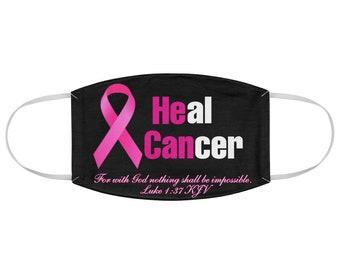 Breast Cancer Awareness Ribbon Fabric Face Mask