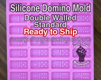 Double Walled Standard Size Silicone Domino Mold