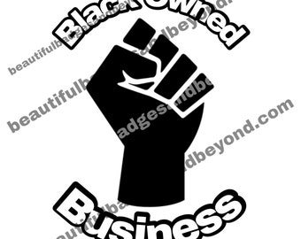Black Owned Business Logo Watermark Fist