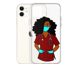 Black African American Woman Natural Hair iPhone Case