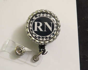 RN Nurse Retractable Name Badge Holder Reel
