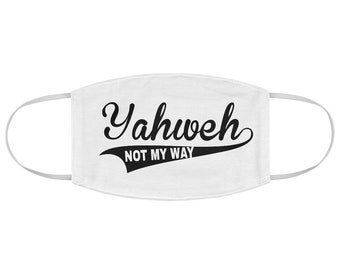 Yaweh Christian Religious Fabric Face Mask