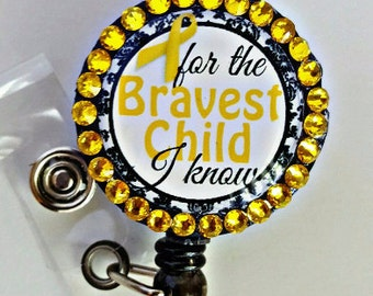 Childhood cancer awareness badge holder