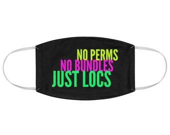 Locs Dreadlocks Natural Hair Fabric Face Mask
